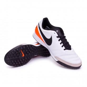 Bota  Nike Tiempo Genio Leather II TF White-Total orange