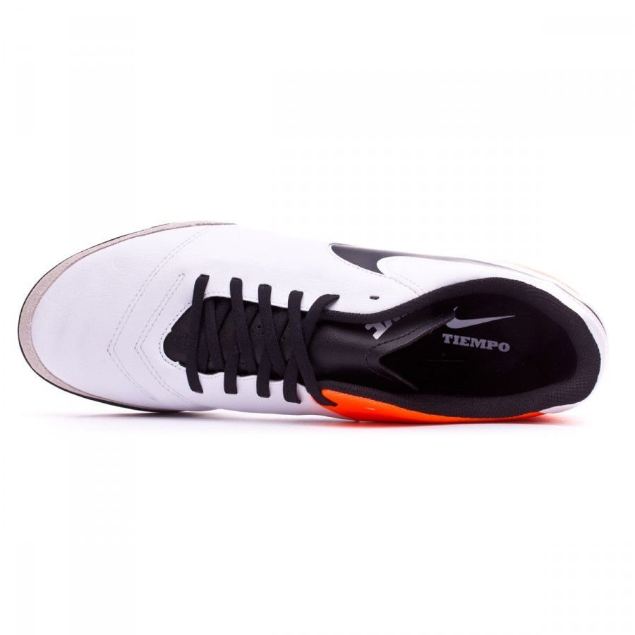 c1dd9f57104b5 Bota de fútbol Nike TiempoX Genio Leather II Turf White-Total orange -  Tienda de fútbol Fútbol Emotion