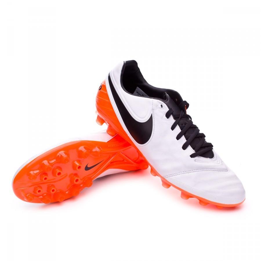 0741c785884f Football Boots Nike Tiempo Legacy II AG-R White-Total orange ...
