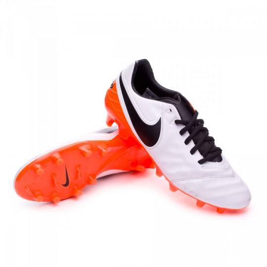 Chuteira  Nike Tiempo Legacy II FG White-Total orange
