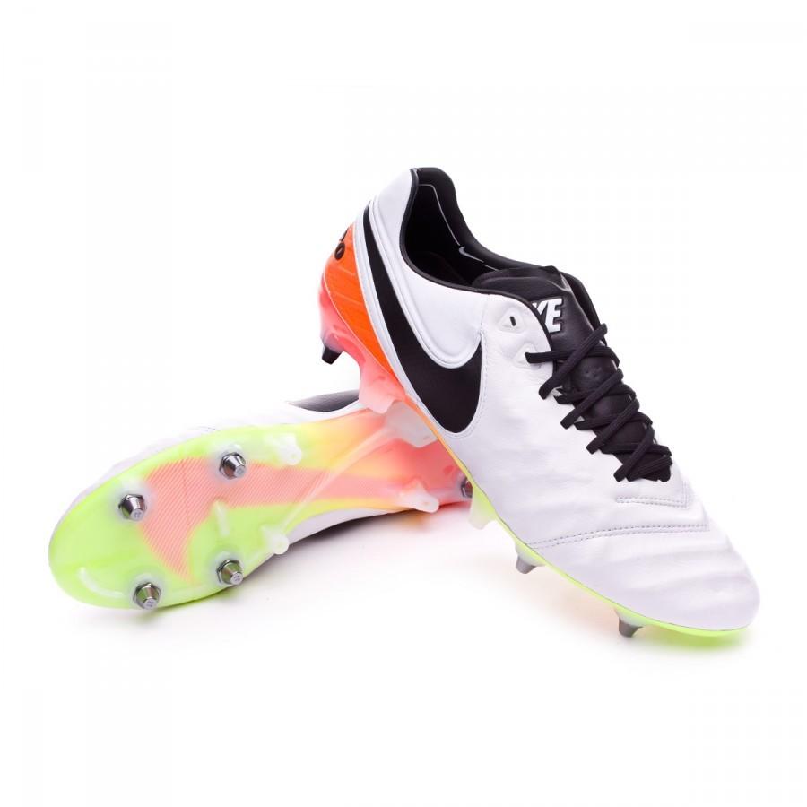 1384f0a545ae6 Zapatos de fútbol Nike Tiempo Legend 6 ACC SG-PRO White-Total orange-Volt -  Tienda de fútbol Fútbol Emotion