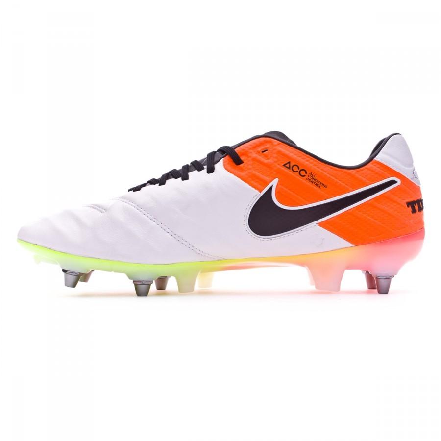 6b4815fc59a5 Football Boots Nike Tiempo Legend 6 ACC SG-PRO White-Total orange-Volt - Tienda  de fútbol Fútbol Emotion
