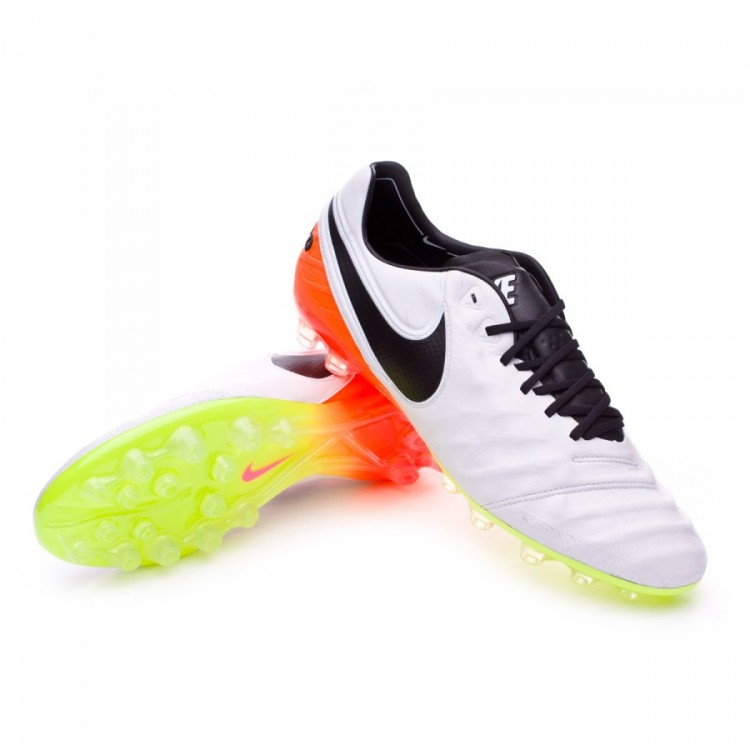 Scarpe Nike Tiempo Legend 6 AG-R White-Total orange-Volt - Negozio ... 4c87ae10d1d