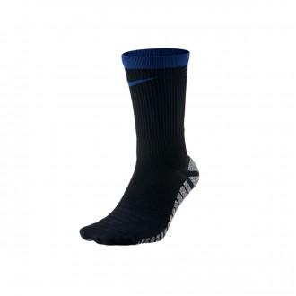 Meias  Nike Grip Strike Crew Black-Deep royal blue