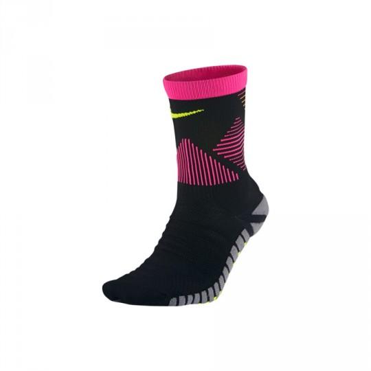 Calcetines  Nike Strike Mercurial Football Black-Hyper pink-Volt