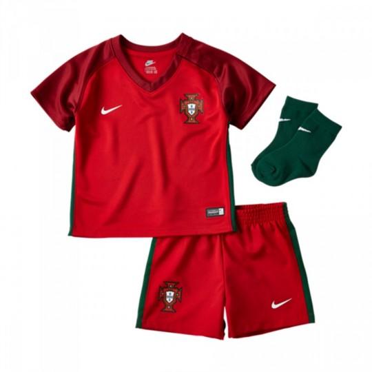 Conjunto  Nike Portugal Home 2016-2017 Bebé Gym red-Gorge green-White