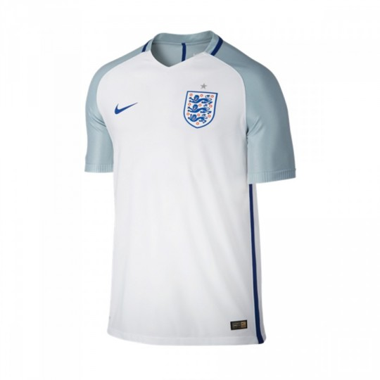 Camiseta  Nike Inglaterra Home 2016-2017 White-Blue grey-Sport royal