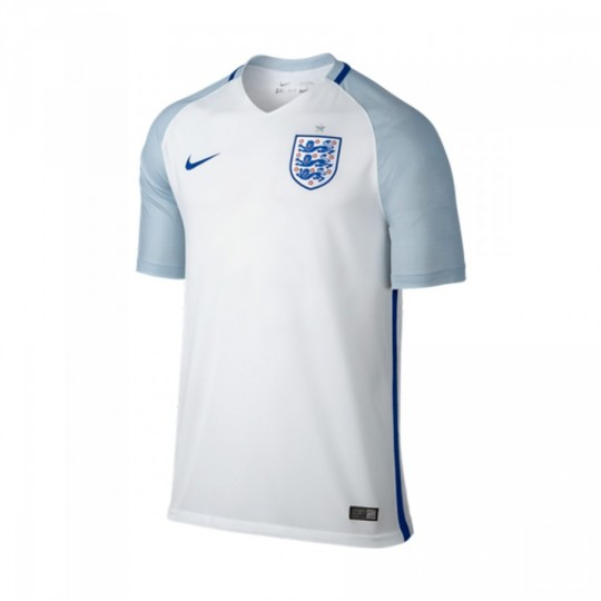 Camiseta  Nike Inglaterra Stadium Home 2016-2017 White-Blue grey-Sport royal