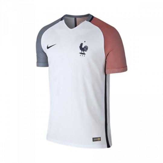 Camiseta  Nike Francia Away 2016-2017 White-Dark obsidian
