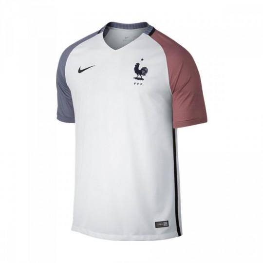 Camiseta  Nike Francia Away Stadium 2016-2017 White-Dark obsidian
