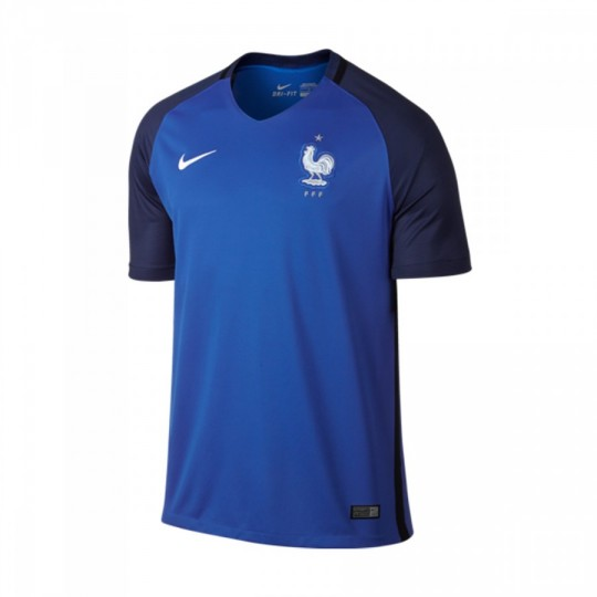 Camiseta  Nike Francia Home Stadium 2016-2017 Hyper cobalt-White