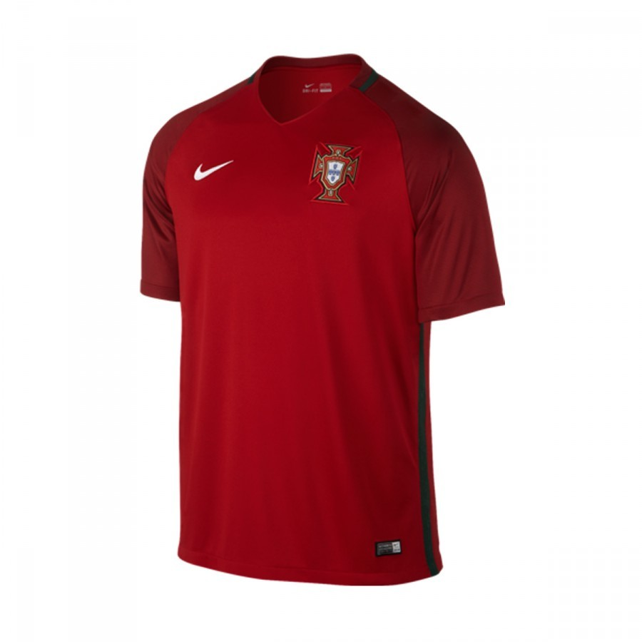 cd3bf11cf4 Camiseta Nike Portugal Primera Equipación Stadium 2016-2017 Gym red-Deep  garnet-White - Soloporteros es ahora Fútbol Emotion