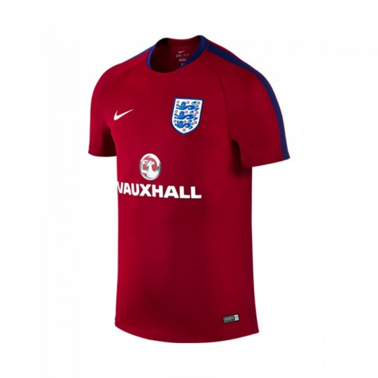 Camiseta  Nike Inglaterra FlashTraining 2016-2017 Gym red-Deep royal blue-White