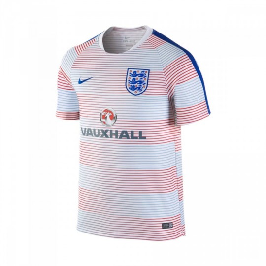 Camiseta  Nike Inglaterra Pre-Match Training II 2016-2017 White-Sport royal