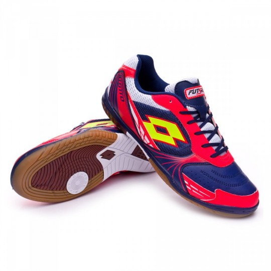 Zapatilla de fútbol sala  Lotto Tacto 500 ID Blue Marine-Yellow Safety