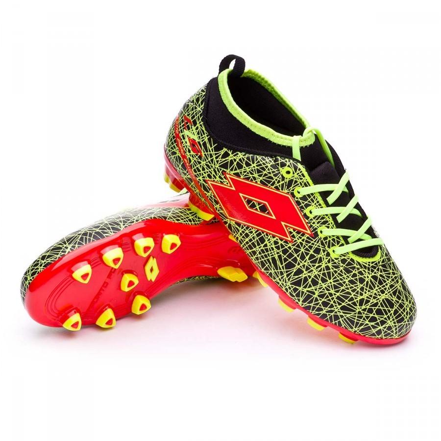 Boot Lotto Jr Zhero Gravity VII 500 FG Black-Red Warm - Football store  Fútbol Emotion 00b1156b98bd3