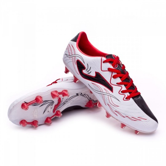 Chaussure  Joma Super Copa Speed FG Blanc-Noir-Rouge