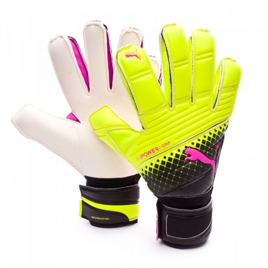 Guante  Puma evoPower Grip 2.3 RC Tricks Pink glo-Safety yellow-Black
