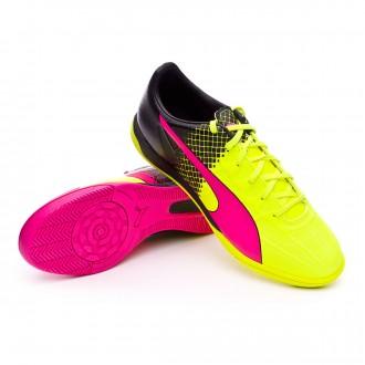 Zapatilla de fútbol sala  Puma evoSpeed 4.5 IT Tricks Pink glo-Safety yellow-Black