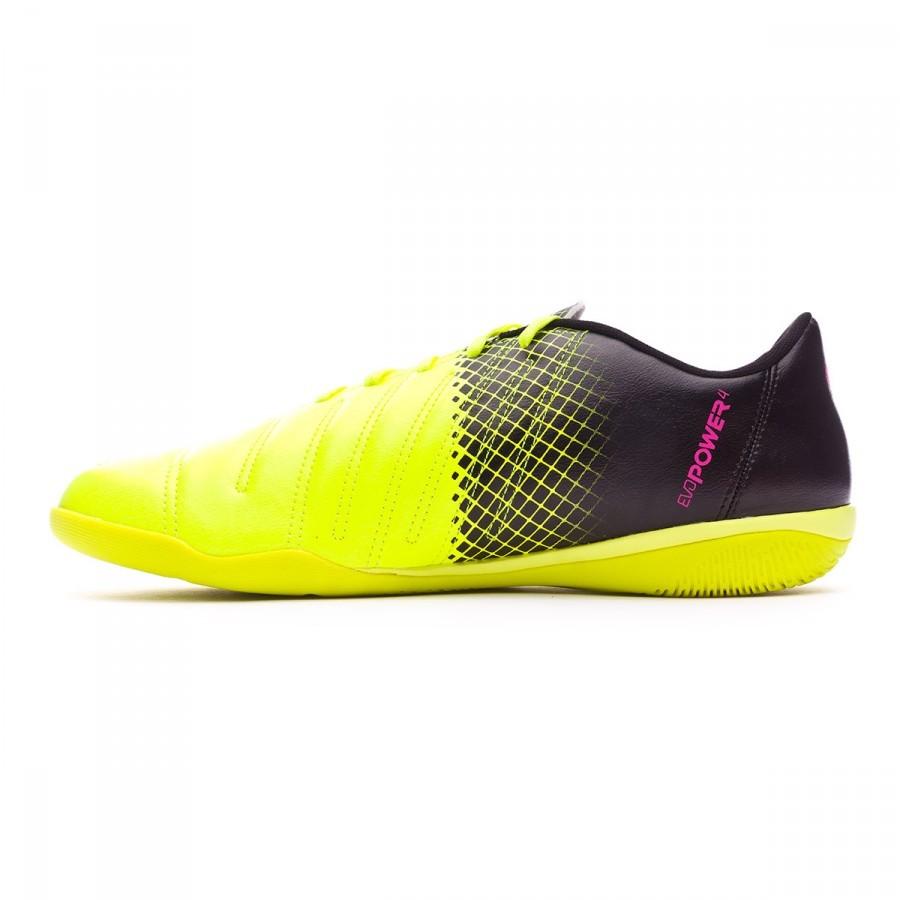 04cef61778c Futsal Boot Puma evoPower 4.3 IT Tricks Pink glo-Safety yellow-Black -  Football store Fútbol Emotion