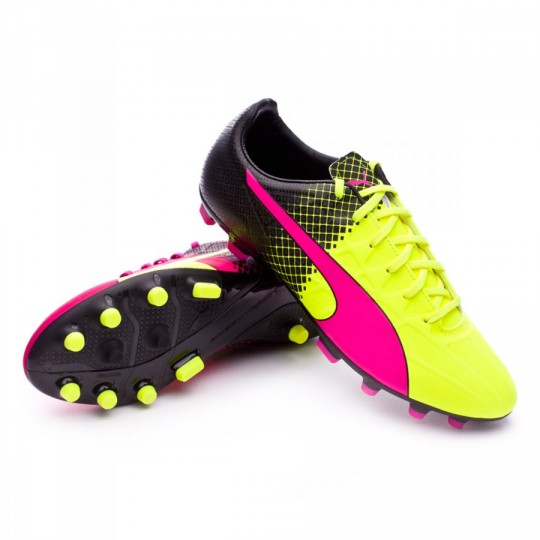 Chaussure  Puma evoSpeed 4.5 AG Tricks Pink glo-Safety yellow-Black