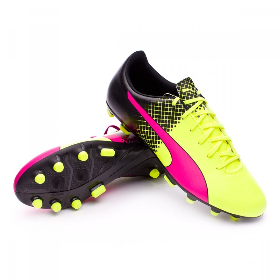 Bota de fútbol Puma evoSpeed 5.5 AG Tricks Pink glo-Safety yellow-Black -  Soloporteros es ahora Fútbol Emotion 4da7164adcfc7