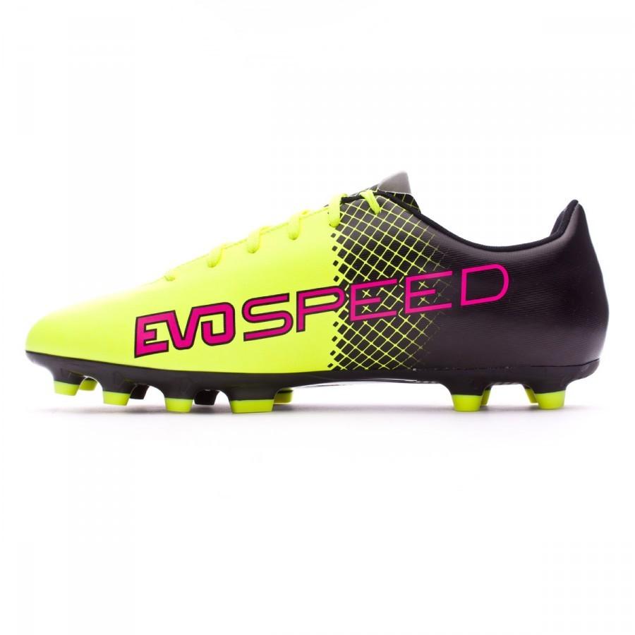 Bota de fútbol Puma evoSpeed 5.5 AG Tricks Pink glo-Safety yellow ... a8de454e04acd