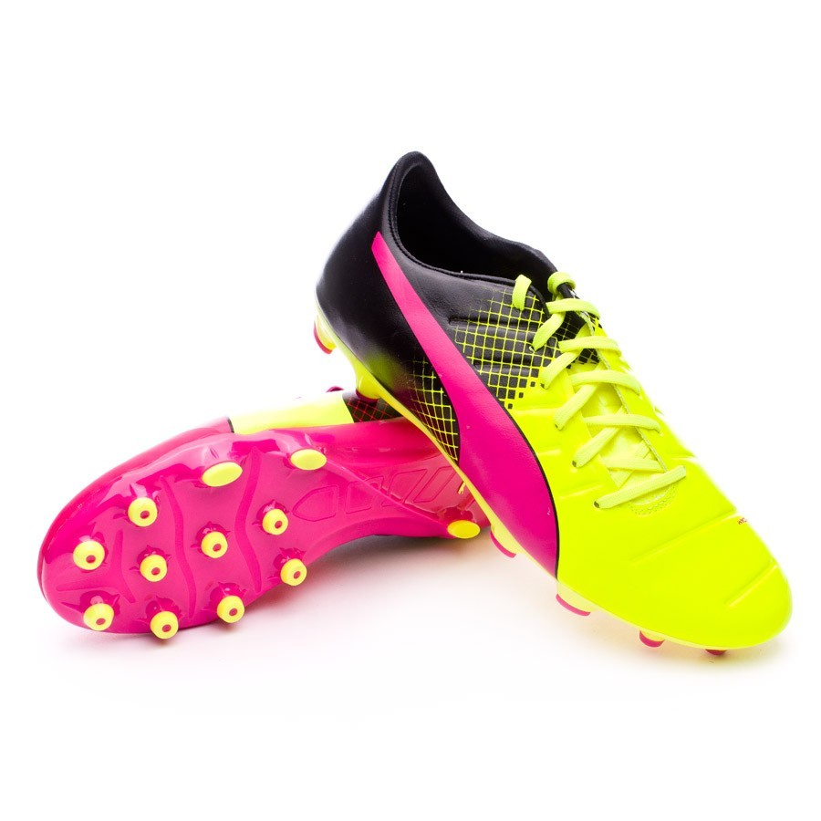 Boot Puma evoPower 2.3 AG Tricks Pink glo-Safety yellow-Black ... 6af363e6d33a