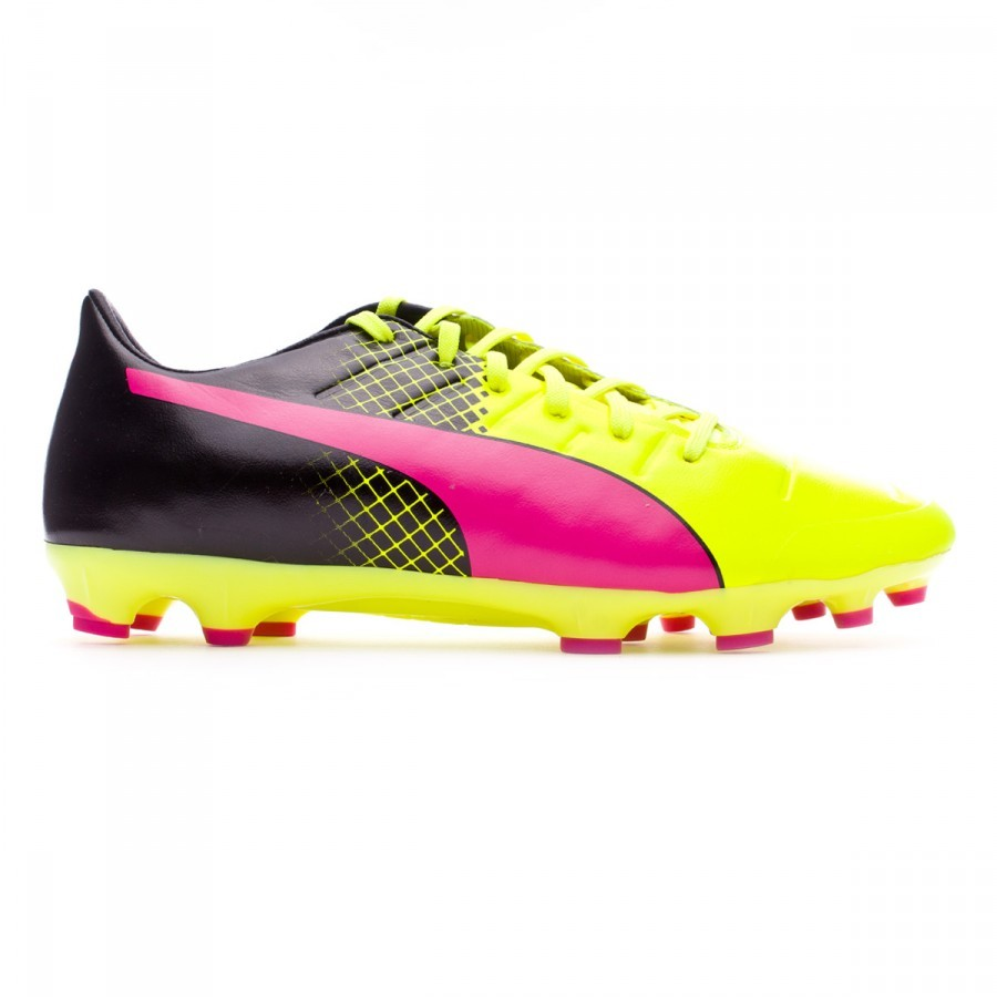 3399d5781c2d Football Boots Puma evoPower 2.3 AG Tricks Pink glo-Safety yellow-Black -  Football store Fútbol Emotion