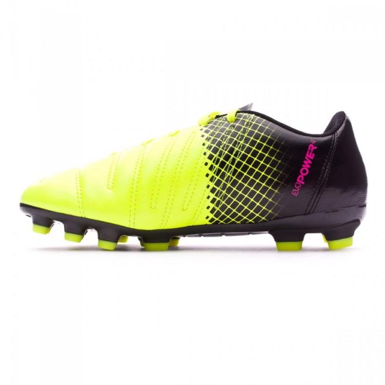 d6b1b99d05d Boot Puma Jr evoPower 4.3 AG Tricks Pink glo-Safety yellow-Black ...