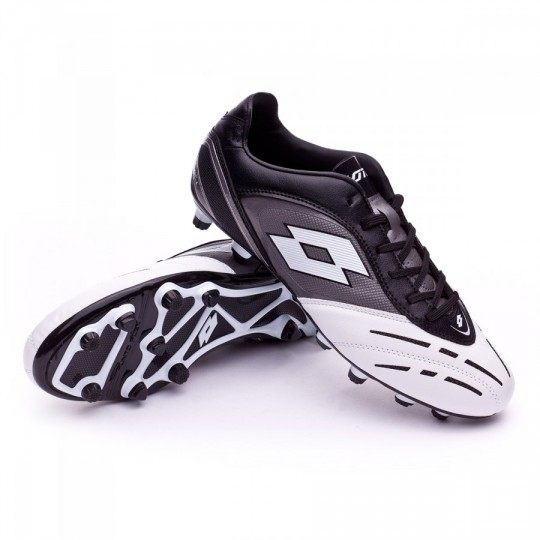 Chuteira  Lotto Stadio Potenza VI 700 FG Black-White