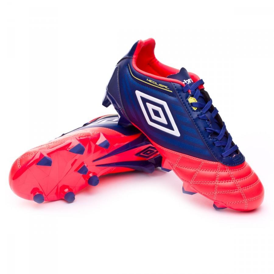 6c63c51527c0d Zapatos de fútbol Umbro Medusae Club HG Deep cobalt-White-Fiery  coral-Sulphur - Tienda de fútbol Fútbol Emotion