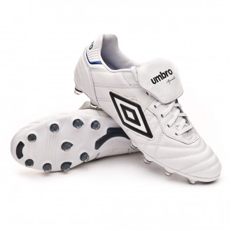 Chaussure de foot  Umbro Speciali Eternal Pro HG White-Black-Clematis blue