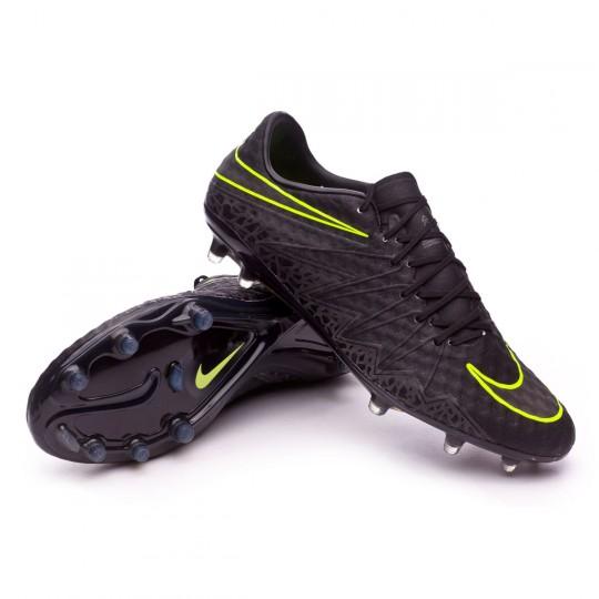Chuteira  Nike HyperVenom Phinish II ACC FG Black-Metallic hematite-Volt
