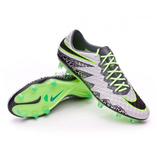 Chuteira  Nike HyperVenom Phinish ACC FG Pure platinium-Black-Ghost green