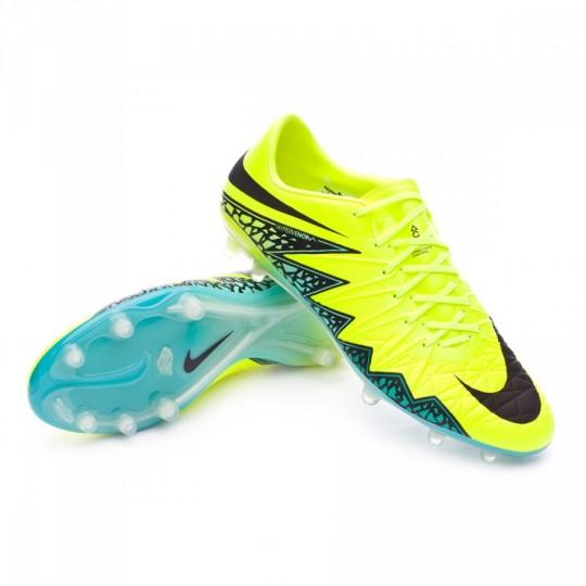 Chuteira  Nike HyperVenom Phinish II ACC FG Volt-Hyper turquoise-Clear jade