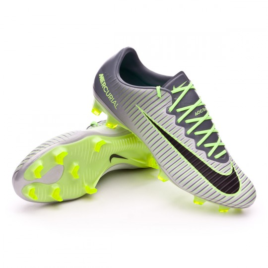 Chuteira  Nike Mercurial Vapor XI ACC FG Pure platinium-Black-Ghost green