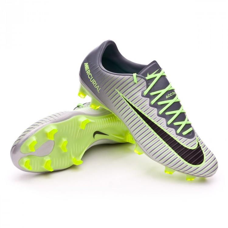 d9843096efbe9 Football Boots Nike Mercurial Vapor XI ACC FG Pure platinium-Black ...