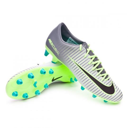 Chuteira  Nike Mercurial Victory VI AG-R Pure platinium-Black-Ghost green