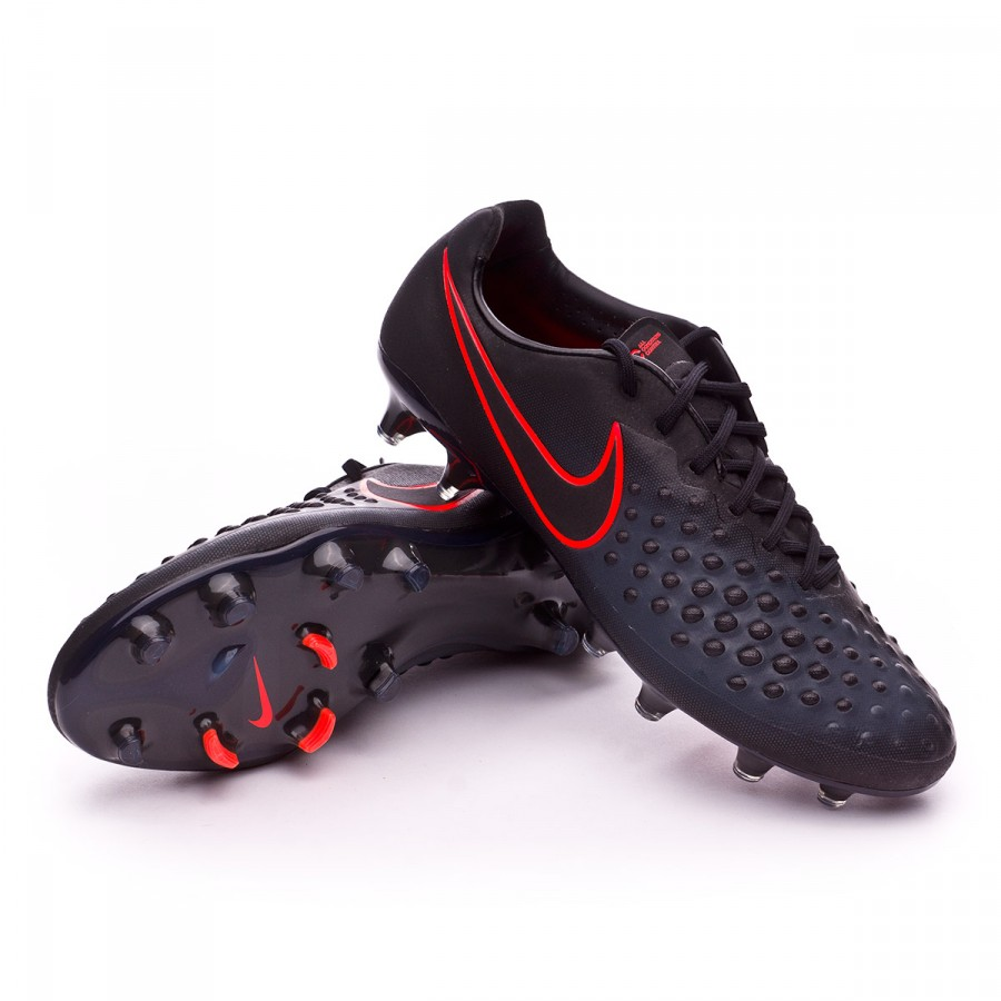 7a8e0f1540907 Football Boots Nike Magista Opus II ACC FG Black-Total crimson ...