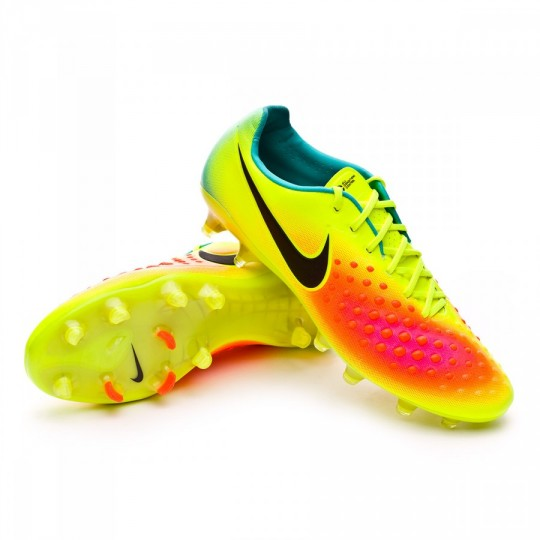Chuteira  Nike Magista Opus II ACC FG Volt-Black-Total orange-Pink blast