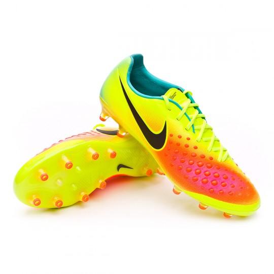 Chuteira  Nike Magista Opus II ACC AG-R Volt-Black-Total orange-Pink blast