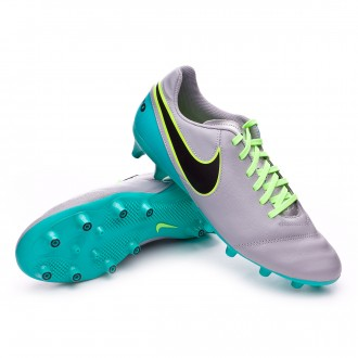 Chuteira  Nike Tiempo Genio Leather II AG-R Wolf grey-Black-Clear jade
