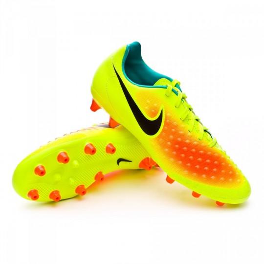 Chuteira  Nike Magista Onda II AG-R Volt-Black-Total orange-Clear jade