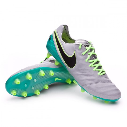 Chuteira  Nike Tiempo Legend VI ACC AG-R Wolf grey-Black-Clear jade-Hyper turquoise