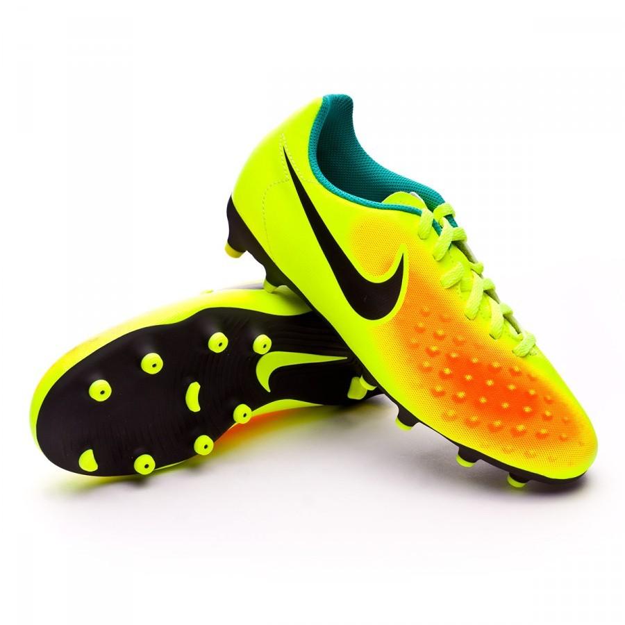 835c8d976b1a Football Boots Nike Jr Magista Ola II FG Volt-Black-Total orange ...