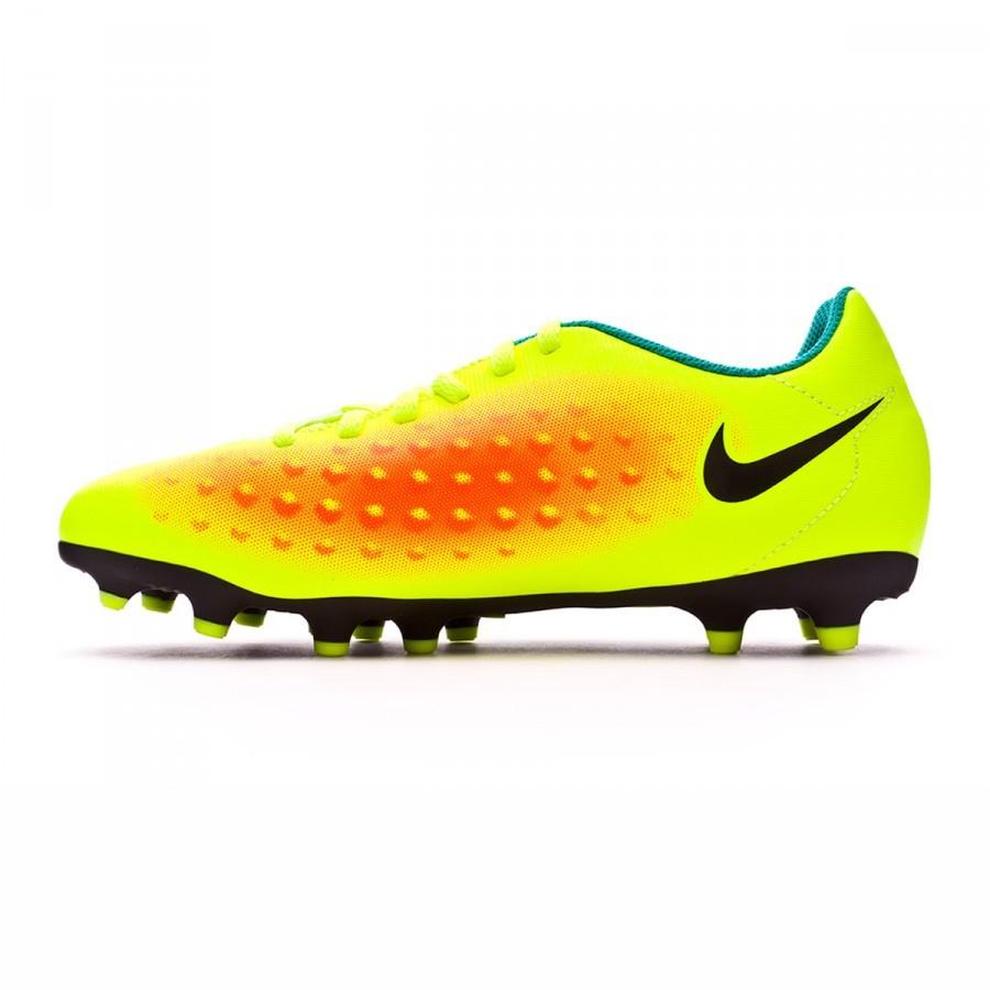 6d8e191357fd Football Boots Nike Jr Magista Ola II FG Volt-Black-Total orange-Clear jade  - Football store Fútbol Emotion