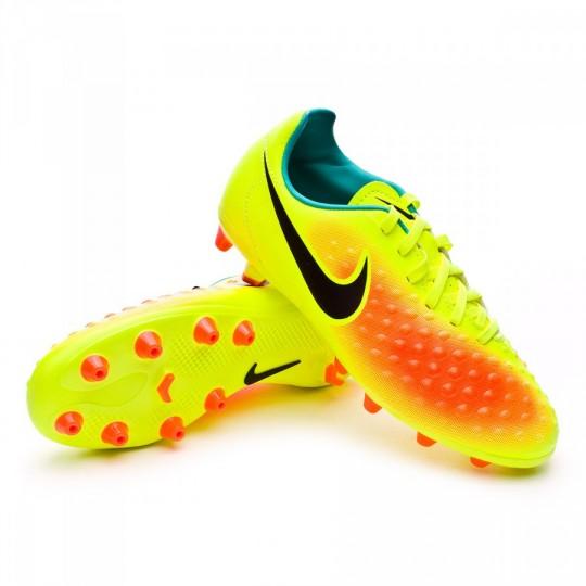 Chuteira  Nike jr Magista Opus II ACC AG-R Volt-Black-Total orange-Clear jade