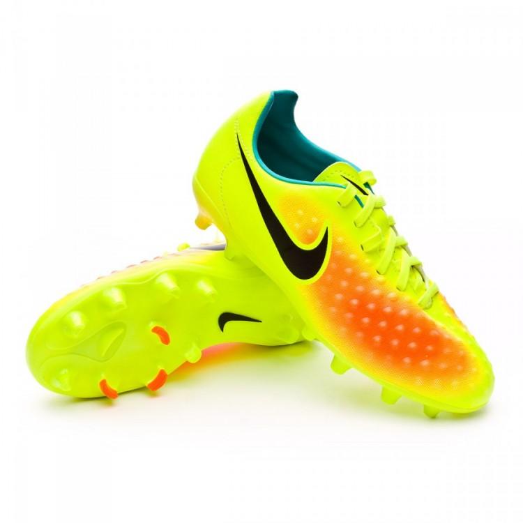 bc40fa3ce402b Zapatos de fútbol Nike Magista Opus II ACC FG Niño Volt-Black-Total ...