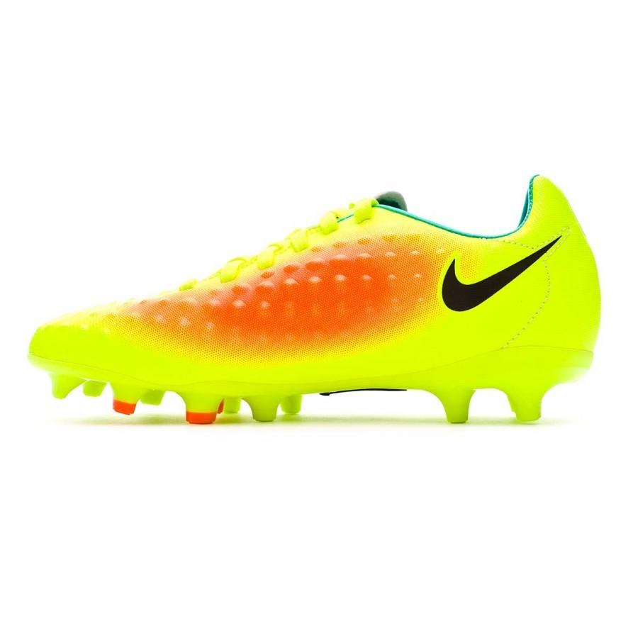 24a8ff16bf55 Football Boots Nike Jr Magista Opus II ACC FG Volt-Black-Total orange-Clear  jade - Football store Fútbol Emotion